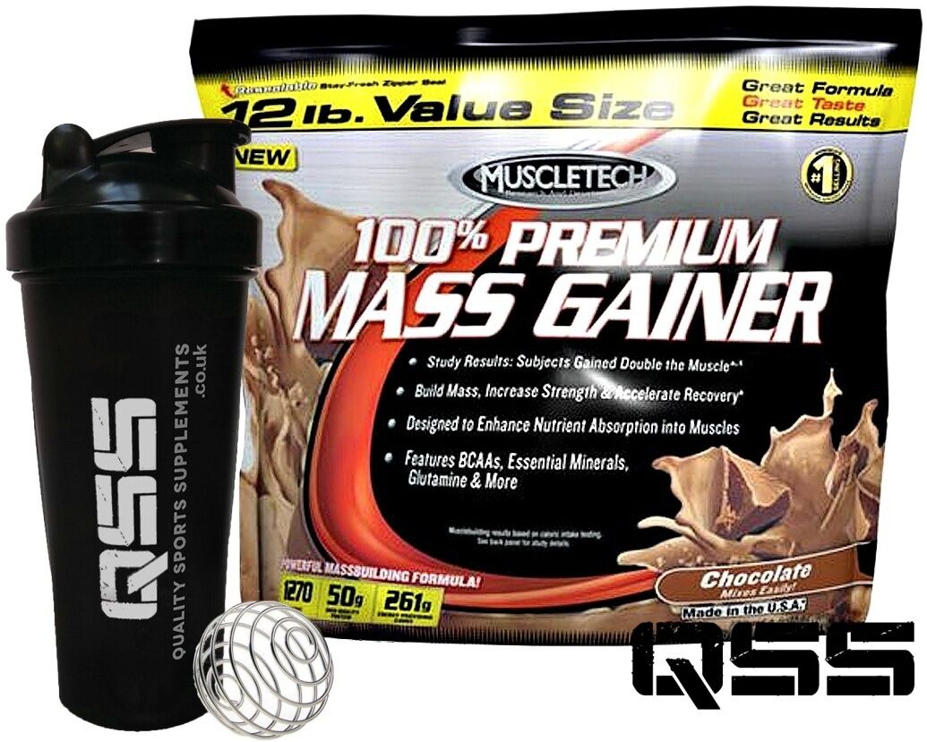 Muscletech MASS Weight Gainer 100% PREMIUM 5,4KG agregó Shak libre de Creatina BCAA'S