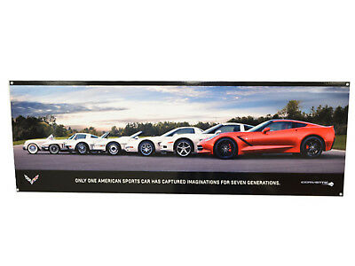 Corvette Stingray Z06 C7 Generations Metal Sign