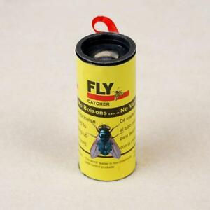 4-ROLLS-INSECT-FLY-CATCHER-TRAP-GLUE-PAPER-RIBBON-TAPE-STICKY-FLIES-ROLLS