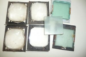 Kodak-projector-internal-lens-x-4-6x7x1cm-3-glass-plates-55x55cm-on-2-mounts-U4