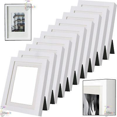 """5 Stück Set IKEA /""""RIBBA/"""" 10x15 13x18 cm Weiß// Bilderrahmen// Passepartout NEU"""