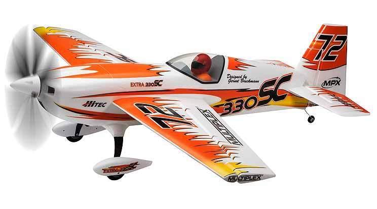 Multiplex RR extra  300 Sc Arancione Brushless Motore Servosterzo Finito  da non perdere!