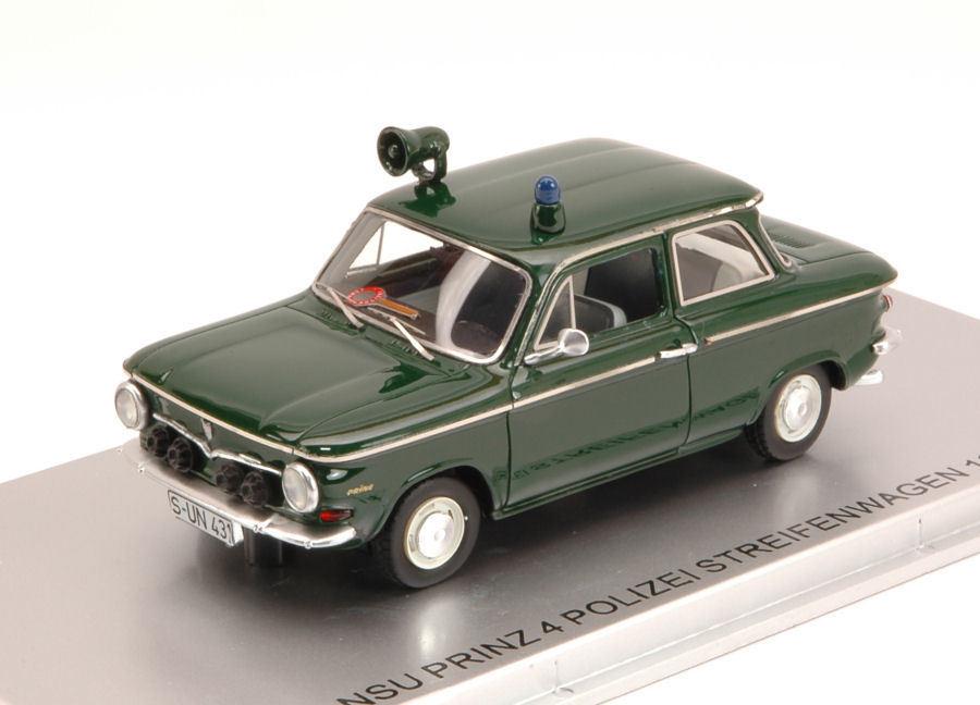 precio al por mayor NSU Prinz 4 policía patrulla 1964 Limited Edition Edition Edition 156 PCs 1 43 Model  Entrega gratuita y rápida disponible.