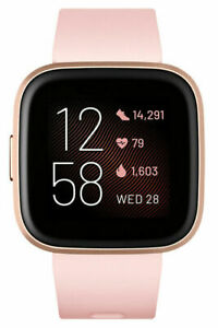 Fitbit Versa 2 Health and Fitness Smartwatch | Petal/Copper Rose Aluminum 1