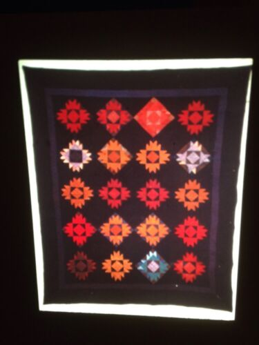 Bear/'s Paw Ohio Amish Pieced Quilt 1920 35mm Textile Art Slide