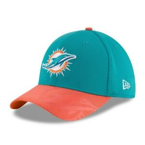 a0792c13ec8d88 Miami Dolphins 2016 Official NFL Sideline New Era 39THIRTY Cap, ML ...