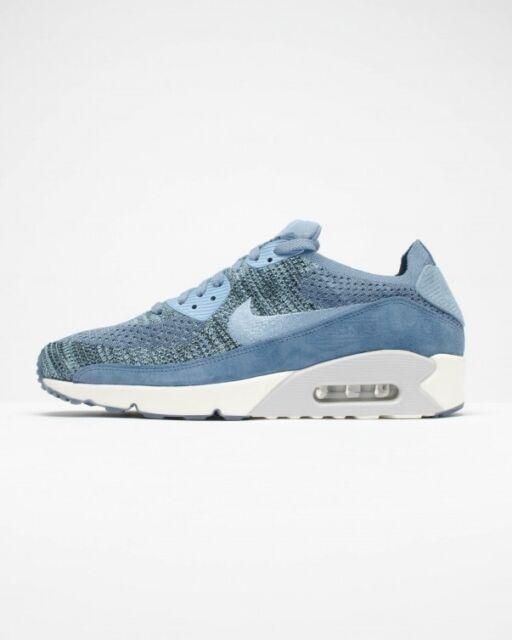 0386466a4c9b Men s Nike NikeLab Air Max 90 Flyknit Shoes Ocean Fog Blue 876320 ...