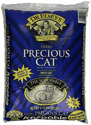 Precious Cat Ultra Premium Clumping Cat Litter, 18 pound bag, New, Free Shipping