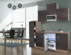 Cucina Kitchenette 180 cm Rovere Ruvido-Segato Grigio Respekta | eBay