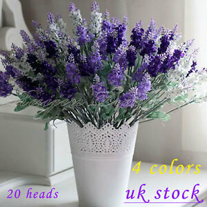 40 heads lavender flowers silk artificial bouquet wedding home party image is loading 40 heads lavender flowers silk artificial bouquet wedding mightylinksfo