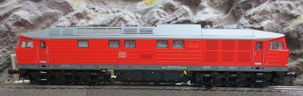 ESU 31160 Diesellok, 232 571, DB, verkehrsrot, Ep VI, Sound+Rauch, DC/AC H0 Neu
