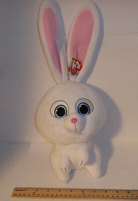 """NWT 15/"""" TY BEANIE BUDDY Snowball SECRET LIFE OF PETS Movie Easter Bunny"""
