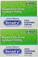 Benadryl Extra Strength Anti_itch Cream 1oz Tubes (2 Pack)