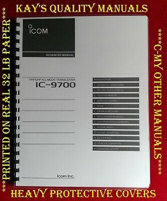Highest Quality ~ ICOM IC-9700 Advance Instruction Manual