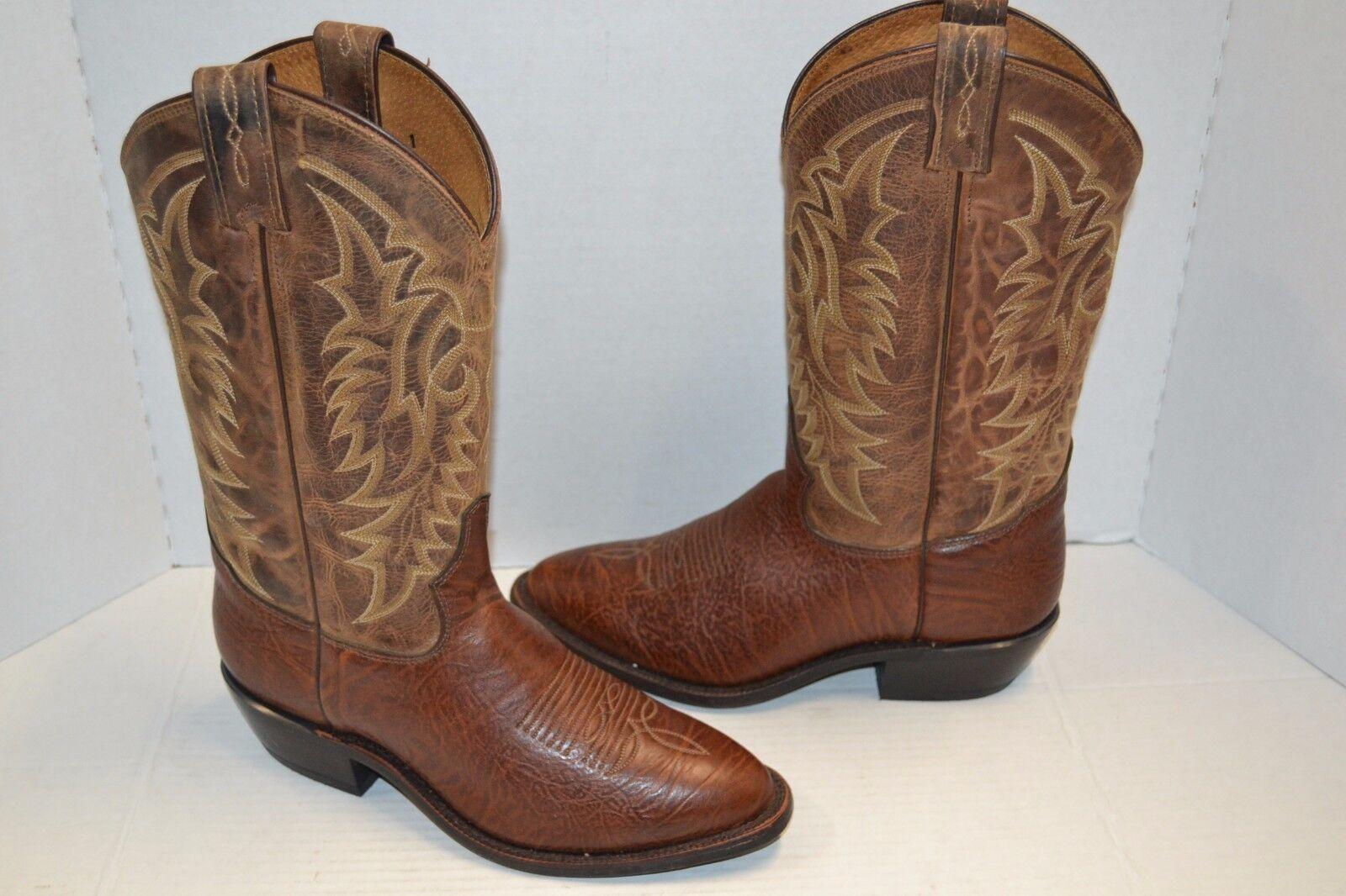 Tony Lama 7938 Mens Cognac BROWN Conquistador Americana SZ 8 D Western Boots