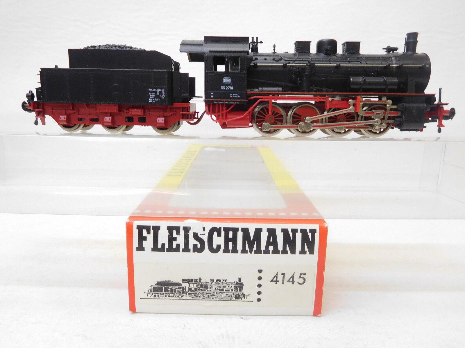 MES -53786 Fleischmann 4145 H0 Dampflok DB 55 2781 sehr guter Zustå
