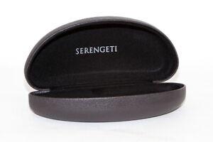 Serengeti-Sunglasses-Carrying-Case-Dark-Brown-Textured-Authorized-Dealer