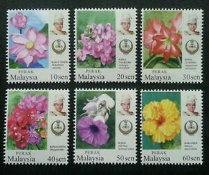 SJ-Malaysia-Garden-Flowers-New-Definitive-Issue-Perak-Sultan-2016-stamp-MNH