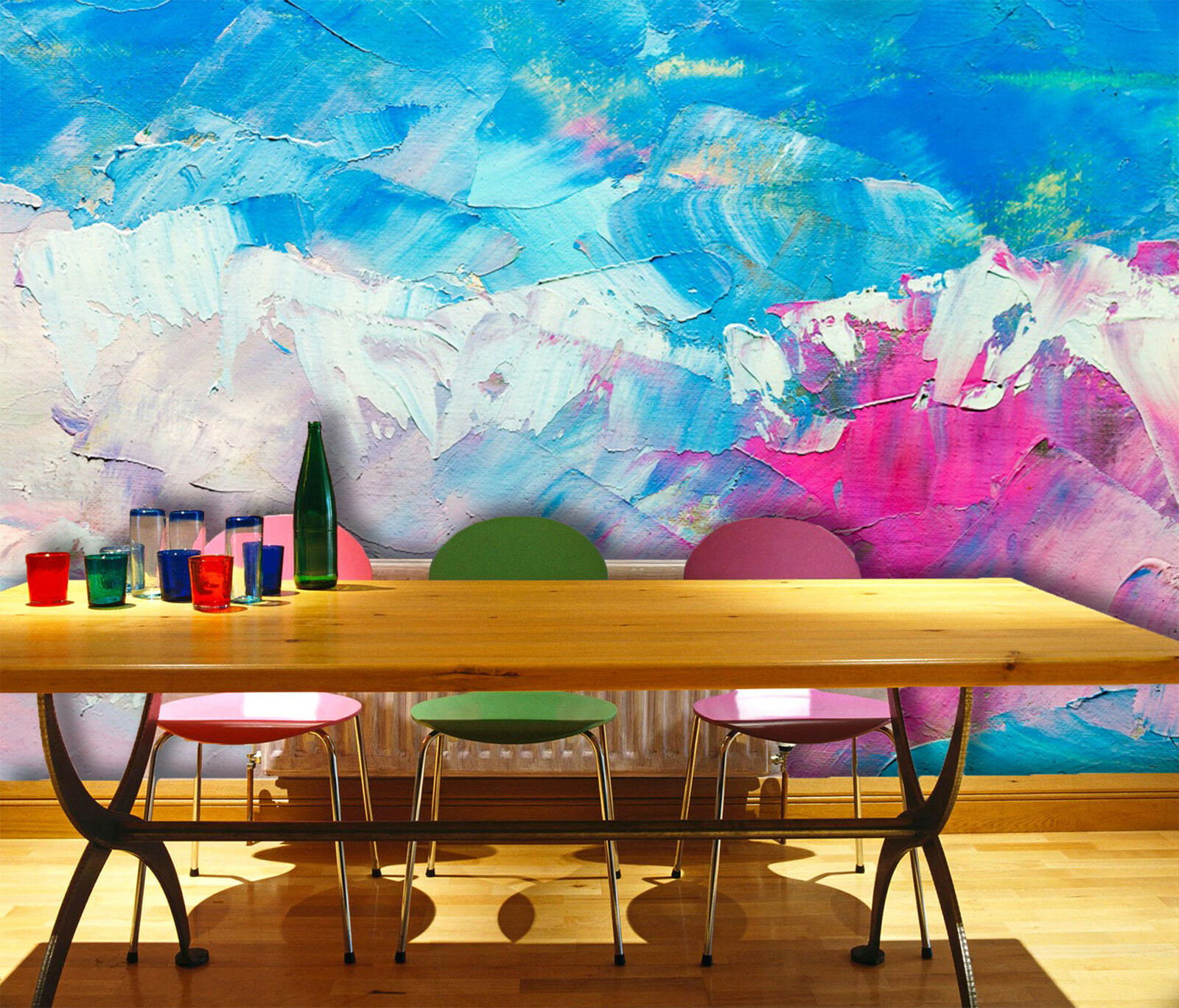 3D Farbe Wird Fototapeten Wandbild Fototapete Bild Tapete Familie Kinder