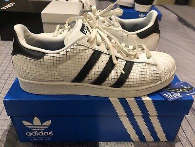 Adidas Originals Superstar LIMITED EDITION GridPattern White/Black Size 9 AQ8333
