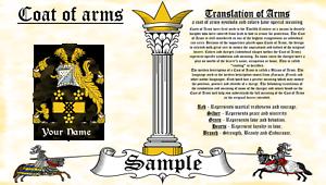 Reisborough-Rysborrowe COAT OF ARMS HERALDRY BLAZONRY PRINT