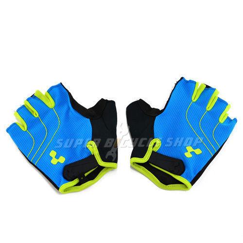 CUBE Natural Fit Gloves Short Finger Blue x Green