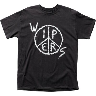 Wipers Logo Black T-Shirt Men/'s Officially Licensed Punk Band Tee s-M-L-XL