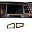 Peach Wood Grain Center Air Vent Outlet Cover Trim For Toyota Highlander 2015-18