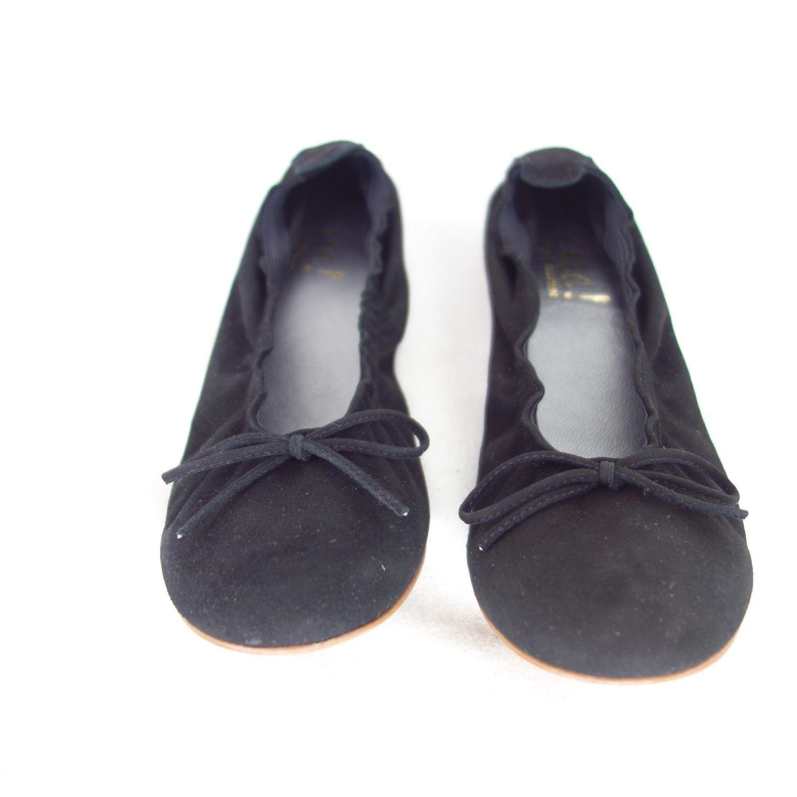 CLIC Damen Ballerinas Gr 35 Sandalen Schuhe Leder NEU Wildleder Schwarz NP 79 NEU Leder 4183e7