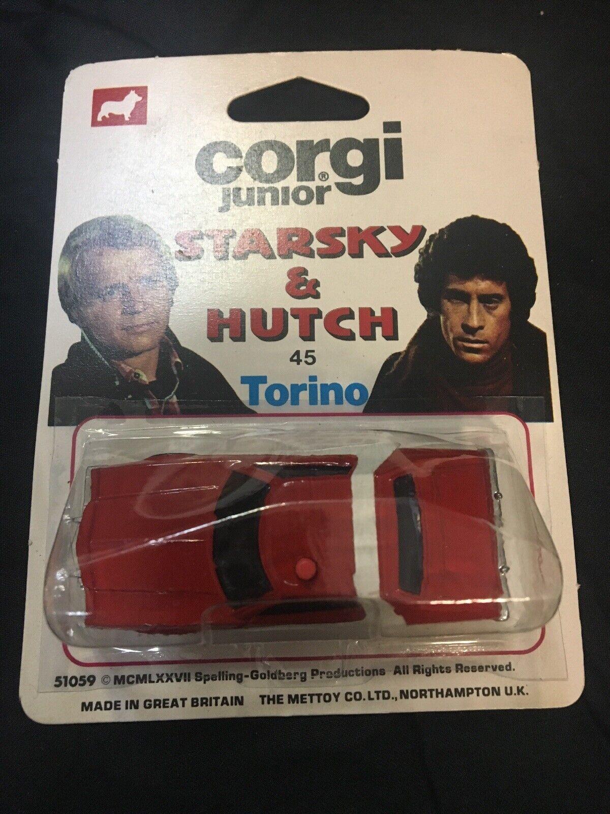 1976 CORGI JUNIOR STARSKY & HUTCH  45 TORINO MOC GREAT BRITIAN GERMAN STAMPED