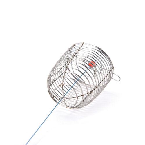 Cage Fishing Trap Korb Feeder Holder Edelstahl Draht Angeln Köder Tb