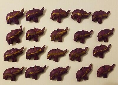3 x große Elefanten Glasperle elephant beads