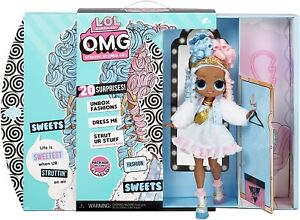 LOL Surprise OMG Sweets Fashion Doll - Dress Up Doll Set with 20 Surprises - New