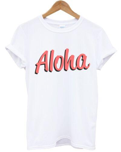 Aloha T Shirt inct Top Verano urbano Hawaii frescos de vacaciones para hombre Para Mujer Kids