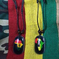 Selassie Rastafari Rasta Lion Of Judah Pendant Black Cord Jamaica Africa 1sz