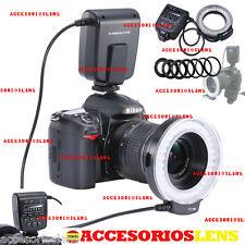 Flash Anular Macro para Canon y Nikon DFC-100 Macrofotografía-FLASH LED MACRO