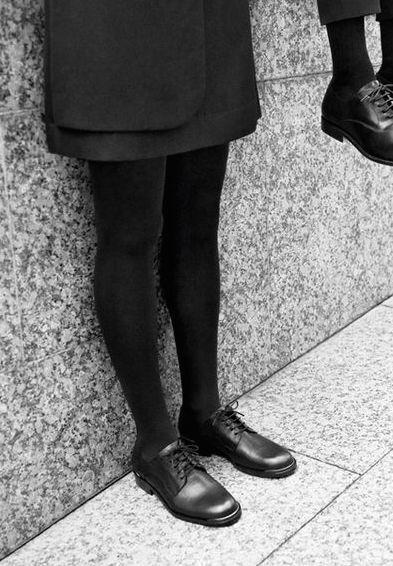 PERCHE 'Classic neri stringati in pelle Scarpe metallo Brogues con dettaglio in metallo Scarpe /38 RARA! 020dd9