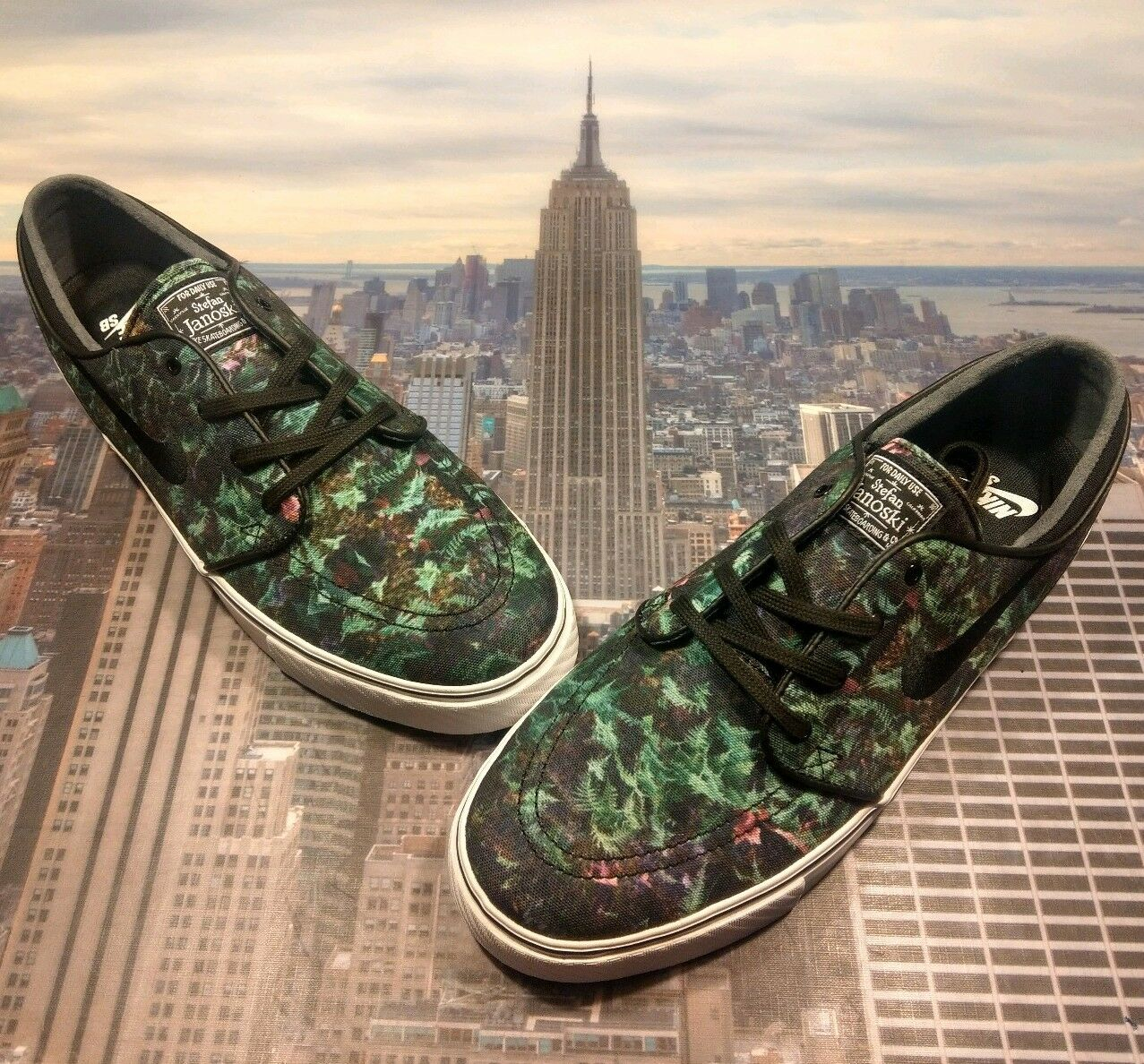 most popular buying cheap cheap for discount Nike Zoom Stefan Janoski Canvas PRM Premium Ferns Gorge Green Size 12  705190 301
