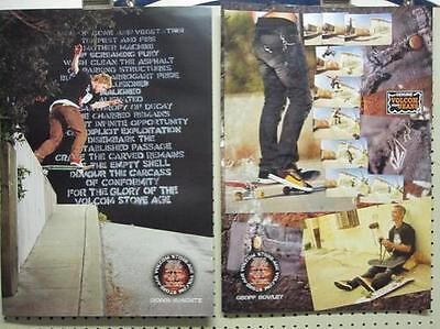 VOLCOM 2004 Geoff Rowley B/&W skateboard promo poster Flawless NEW old stock