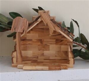 Olive-Wood-Handcrafted-Stable-from-Bethlehem
