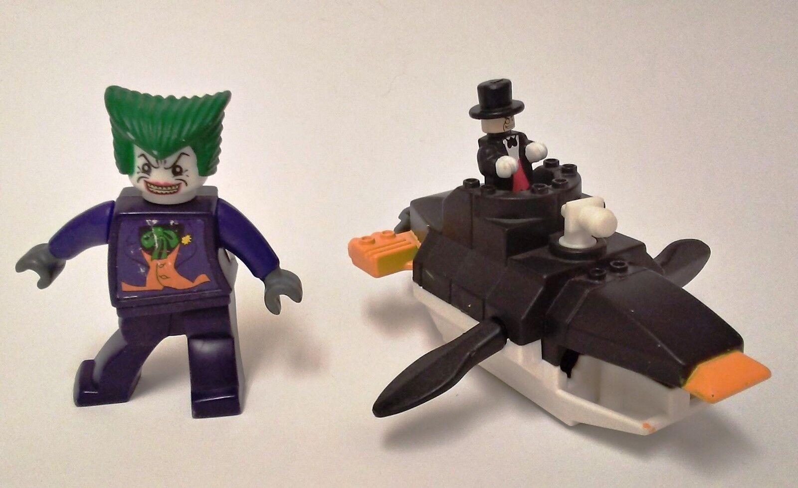 LEGO MCDONALDS  BATMAN  PENGUIN SUBMARINE  JOKER  HAPPY MEAL TOYS  2008