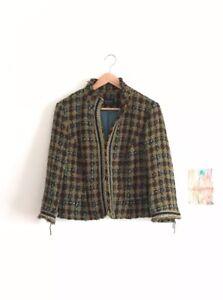 Velvet en Principes Vk lint turquoise Jas jas 14 met Tweed goud Groene xwRUHwAq