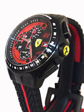 bcec4b56840 Ferrari Heritage Chronograph Black Dial Stainless Steel Men s Watch ...