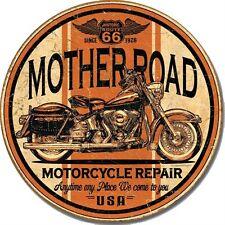 Vintage Replica Tin Metal Sign mother road rt 66 motorcycle harley davidson 1697