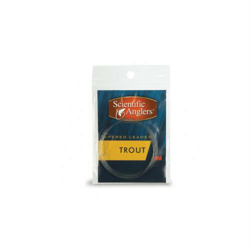 Scientific Anglers Trout Freshwater Nylon Tapered  Leader 9 ft 3x