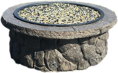 Concrete Fire Pit & Seat Wall Form Liner - Boulder Face ...