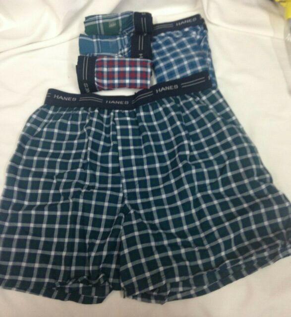 Hanes Boys 4-Pack Boxers Multi Plaid Comfort Soft Kids size M NEW