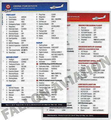 QRef Cessna 172P Checklist Card