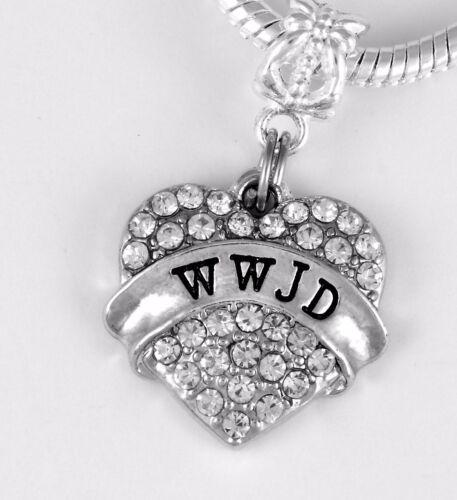WWJD Charm Huge sale now What Would Jesus Do charm Fits European style Bracelet
