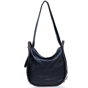 Bruno-Rossi-Italian-Made-Black-Calf-Leather-Convertible-Hobo-Bag-Backpack